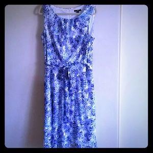 🌴Host Pick🌴Blue Sleeveless Floral Dress